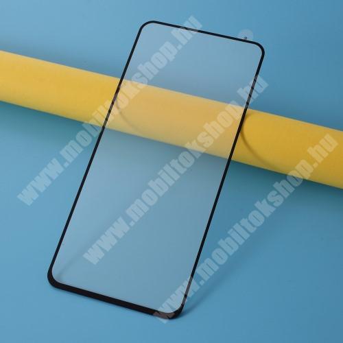 Előlap védő karcálló edzett üveg - FEKETE - 9H, Arc Edge, A TELJES KIJELZŐT VÉDI! - Xiaomi Redmi Note 9 / Xiaomi Redmi 10X 4G