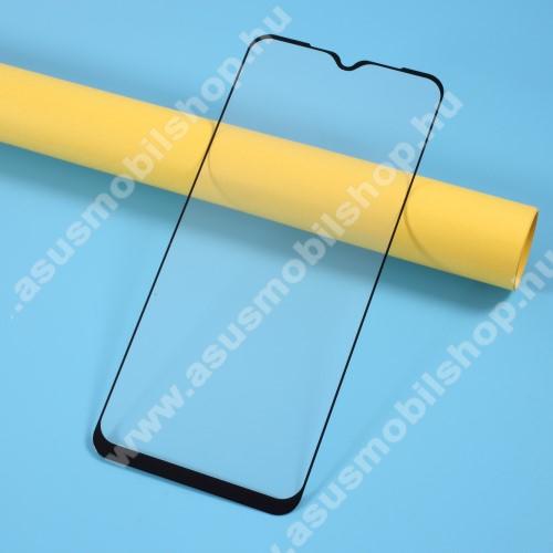 Előlap védő karcálló edzett üveg - FEKETE - 9H, Arc Edge, A TELJES KIJELZŐT VÉDI! - Xiaomi Redmi 9