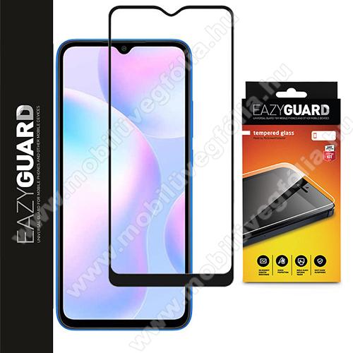 Előlap védő karcálló edzett üveg - FEKETE - 9H, Arc Edge, A TELJES KIJELZŐT VÉDI! - Xiaomi Redmi 9 / Redmi 9A / Redmi 9AT / Redmi 9C / Redmi 9C NFC