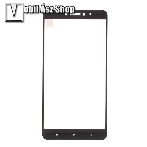 Előlap védő karcálló edzett üveg - FEKETE - 9H - Xiaomi Mi Max 2 - A TELJES KIJELZŐT VÉDI!