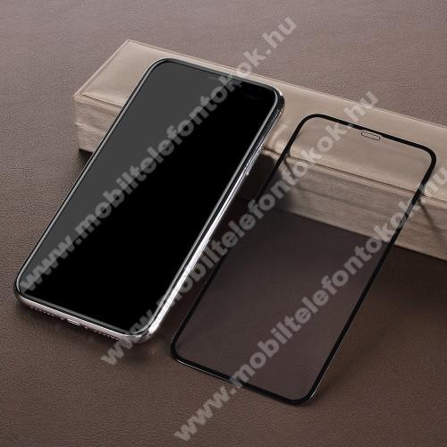 APPLE iPhone XrElőlap védő karcálló edzett üveg, TELJES KIJELZŐT VÉDI! - FEKETE - 0,33mm, 9H, Arc Edge - APPLE iPhone Xr