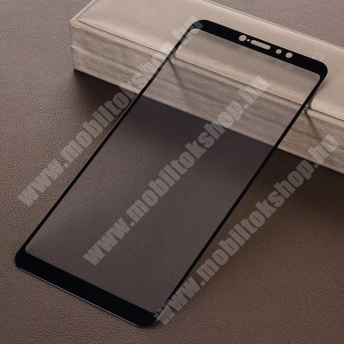 Xiaomi Mi Max 3 Előlap védő karcálló edzett üveg, TELJES KIJELZŐT VÉDI! - FEKETE - 9H, Arc Edge - Xiaomi Mi Max 3