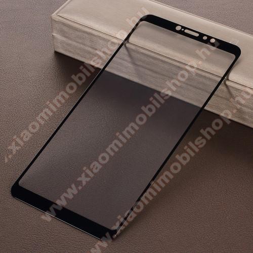 Xiaomi Mi Max 3Előlap védő karcálló edzett üveg, TELJES KIJELZŐT VÉDI! - FEKETE - 9H, Arc Edge - Xiaomi Mi Max 3