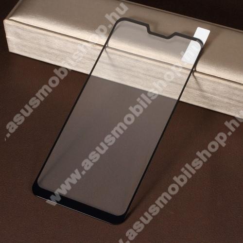 ASUS Zenfone Max Pro (M2) (ZB630KL)Előlap védő karcálló edzett üveg, TELJES KIJELZŐT VÉDI! - FEKETE - 9H, Arc Edge, A teljes felületén tapad! - ASUS Zenfone Max Pro (M2) (ZB631KL) / ASUS Zenfone Max Pro (M2) (ZB630KL)