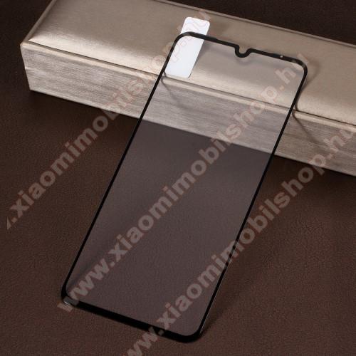 Előlap védő karcálló edzett üveg, TELJES KIJELZŐT VÉDI! - FEKETE - 9H, Arc Edge, A teljes felületén tapad! - Xiaomi Mi 9 / Xiaomi Mi 9 Explorer