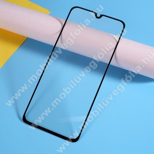 Előlap védő karcálló edzett üveg, TELJES KIJELZŐT VÉDI! - FEKETE - 9H, Arc Edge, A teljes felületén tapad! - SAMSUNG SM-A405F Galaxy A40