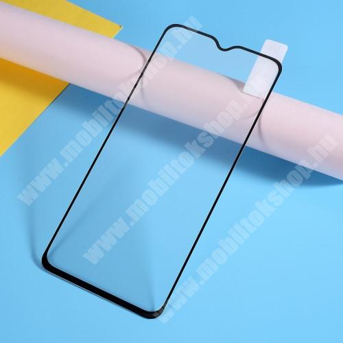 OnePlus 7 Előlap védő karcálló edzett üveg, TELJES KIJELZŐT VÉDI! - FEKETE - 9H, Arc Edge, A teljes felületén tapad! - OnePlus 7
