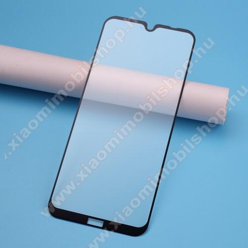Xiaomi Redmi Note 8TElőlap védő karcálló edzett üveg, TELJES KIJELZŐT VÉDI! - FEKETE - 9H, Arc Edge, A teljes felületén tapad! - Xiaomi Redmi Note 8T