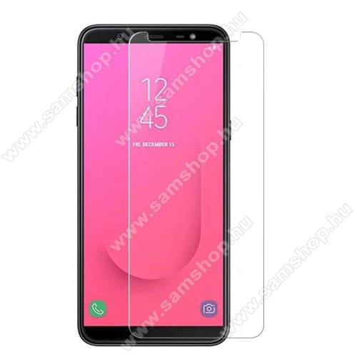 SAMSUNG Galaxy J8 (2018)Előlapvédő karcálló edzett üveg - 0,3mm, 9H, Arc Edge - SAMSUNG Galaxy J8 (2018)