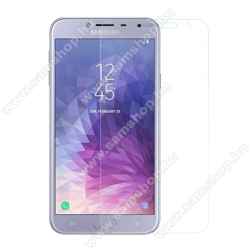SAMSUNG SM-J400F Galaxy J4 (2018)Előlapvédő karcálló edzett üveg - 0,3mm, 9H, Arc Edge - SAMSUNG SM-J400F Galaxy J4 (2018)