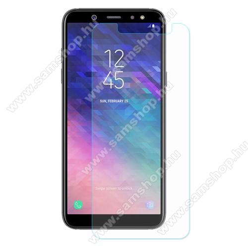SAMSUNG SM-A600F Galaxy A6 (2018)Előlapvédő karcálló edzett üveg - 0,3mm, 9H, Arc Edge - SAMSUNG SM-A600F Galaxy A6 (2018)