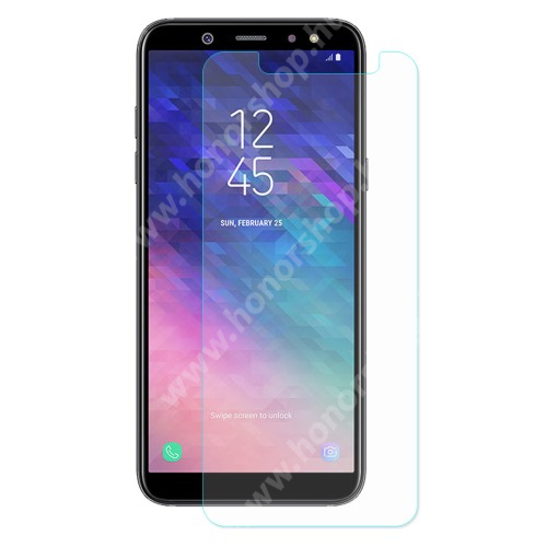 Előlapvédő karcálló edzett üveg - 0,3mm, 9H, Arc Edge - SAMSUNG SM-A605G Galaxy A6 Plus (2018)