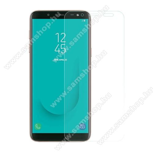 SAMSUNG SM-J600F Galaxy J6 (2018)Előlapvédő karcálló edzett üveg - 0,3mm, 9H, Arc Edge - SAMSUNG Galaxy J6 (2018)