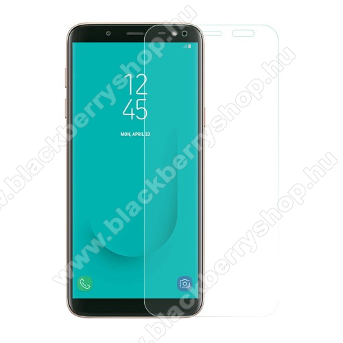 Előlapvédő karcálló edzett üveg - 0,3mm, 9H, Arc Edge, A képernyő sík részét védi - SAMSUNG Galaxy J6 (2018)