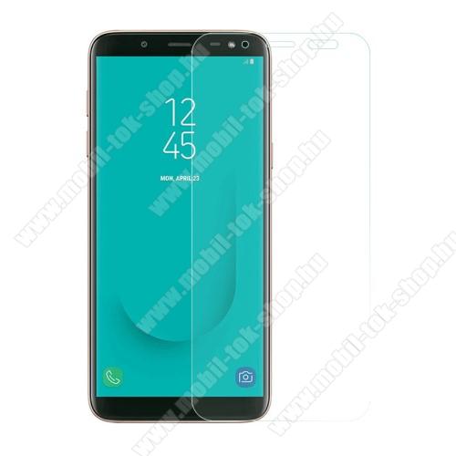 Előlapvédő karcálló edzett üveg - 0,3mm, 9H, Arc Edge - SAMSUNG Galaxy J6 (2018)