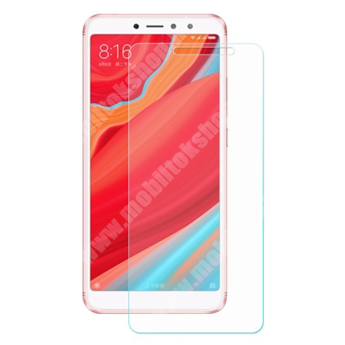 Xiaomi Redmi S2 Előlapvédő karcálló edzett üveg - 0,3mm, 9H, Arc Edge, A képernyő sík részét védi - Xiaomi Redmi S2 / Xiaomi Redmi Y2