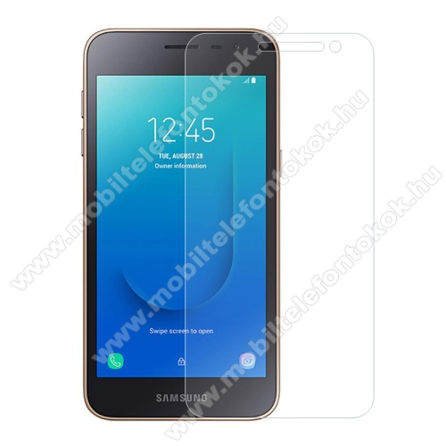 Samsung Galaxy J2 CoreElőlapvédő karcálló edzett üveg - 0,3mm, 9H, Arc Edge - SAMSUNG Galaxy J2 Core