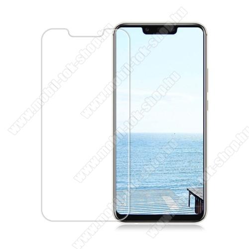 Előlapvédő karcálló edzett üveg - 0,3mm, 9H, Arc Edge, A képernyő sík részét védi - HUAWEI Mate 20 Lite / HUAWEI Maimang 7 / HUAWEI nova 3 / HUAWEI nova 3i / HUAWEI P Smart+