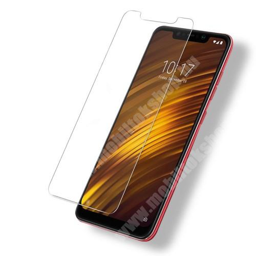 Xiaomi Pocophone F1 Előlapvédő karcálló edzett üveg - 0,3mm, 9H, Arc Edge - Xiaomi Pocophone F1