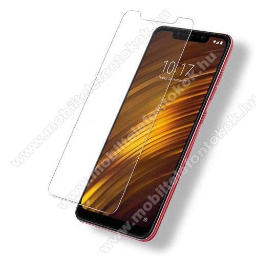 Xiaomi Pocophone F1Előlapvédő karcálló edzett üveg - 0,3mm, 9H, Arc Edge - Xiaomi Pocophone F1