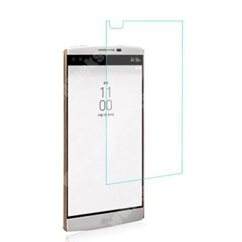 Előlapvédő karcálló edzett üveg - 0,3mm, 9H, Arc Edge - LG V10