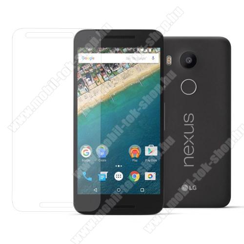 Előlapvédő karcálló edzett üveg - 0,3mm, 9H, Arc Edge - LG Nexus 5X