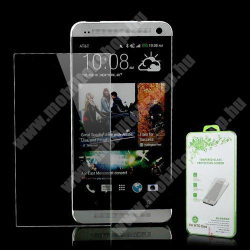 Előlapvédő karcálló edzett üveg - 0,3mm, 9H, Arc Edge - HTC One (M7)