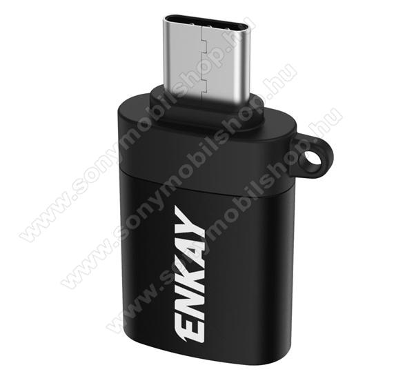 ENKAY adapter (Type-C, adatátvitelhez, OTG USB 3.0) FEKETE - ENK-AT101 - GYÁRI