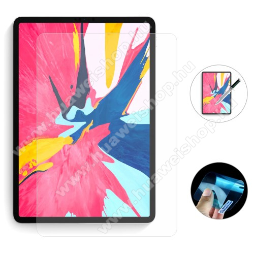 ENKAY Clear Soft Nano képernyővédő fólia - Clear - 1db, törlőkendővel, teljes képernyőre, Explosion-proof - APPLE iPad Pro 11 (2018) / Apple iPad Pro 11 (2020) - GYÁRI