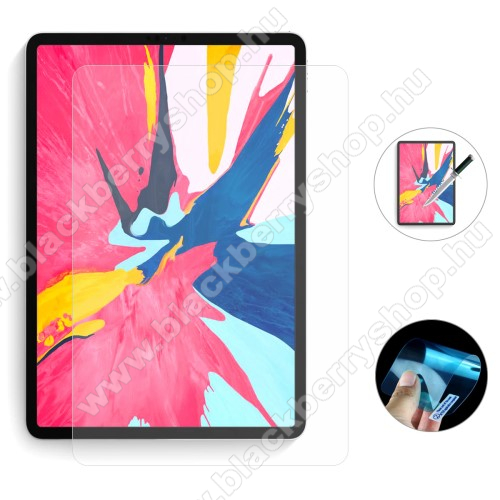 ENKAY Clear Soft Nano képernyővédő fólia - Clear - 1db, törlőkendővel, teljes képernyőre, Explosion-proof - APPLE iPad Air (2020) (4th generation) / iPad Pro 11 (2018) / iPad Pro 11 (2020) - GYÁRI
