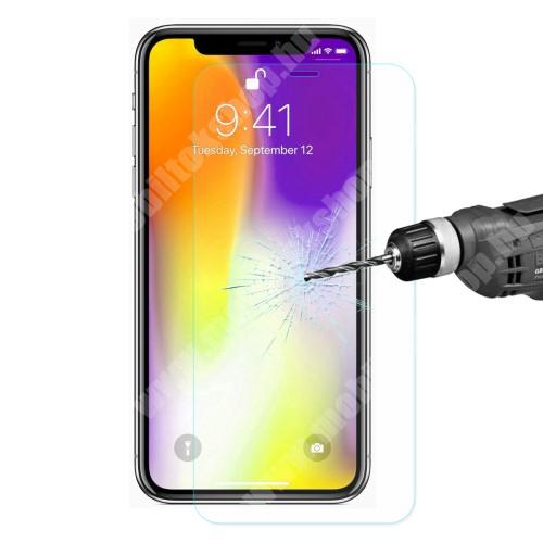 APPLE iPhone 11 Pro Max ENKAY előlap védő karcálló edzett üveg - 2.5D, 0.26mm, 9H, arc edge, A képernyő sík részét védi - APPLE iPhone 11 Pro Max / APPLE iPhone XS Max - GYÁRI