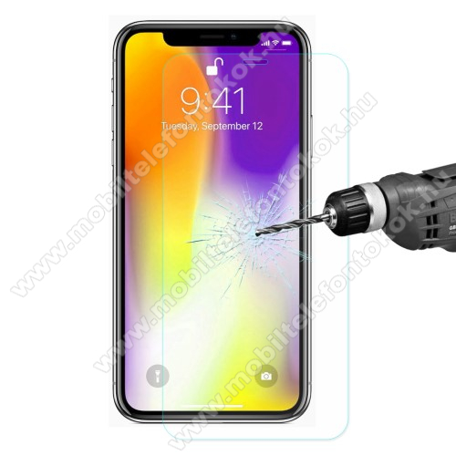 APPLE iPhone XS Max ENKAY előlap védő karcálló edzett üveg - 2.5D, 0.26mm, 9H, arc edge - APPLE iPhone XS Max