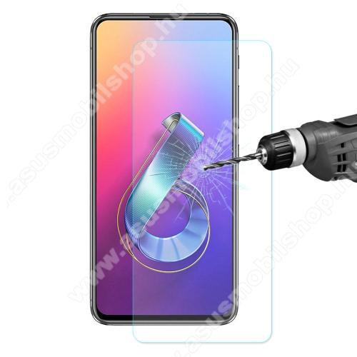 ENKAY előlap védő karcálló edzett üveg - 2.5D, 0.26mm, 9H, Arc Edge, A képernyő sík részét védi - ASUS Zenfone 6 (ZS630KL)