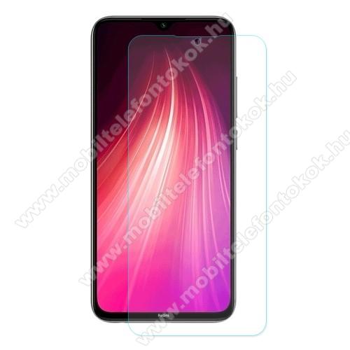ENKAY előlap védő karcálló edzett üveg - 2.5D, 0.26mm, 9H, Arc Edge, A képernyő sík részét védi - Xiaomi Redmi Note 8 - GYÁRI