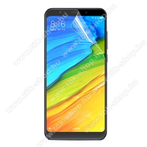 ENKAY képernyővédő fólia - Clear - 1db, törlőkendővel - XIAOMI Redmi Note 5 / XIAOMI Redmi 5 Plus - GYÁRI