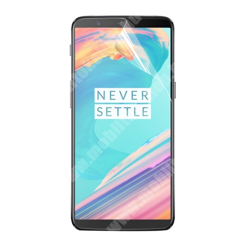 OnePlus 5T ENKAY képernyővédő fólia - Clear - 1db, törlőkendővel - OnePlus 5T - GYÁRI