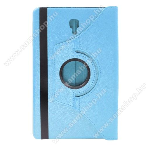 ENKAY notesz tok/ mappa tok - VILÁGOSKÉK - gumis záródás, asztali tartó funkcióval, 360°-ban elforgatható - SAMSUNG SM-T590 Galaxy Tab A 10.5 Wi-Fi / SAMSUNG SM-T595 Galaxy Tab A 10.5 LTE - GYÁRI