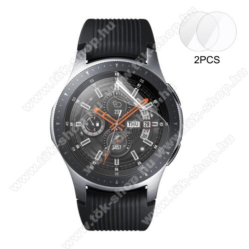 ENKAY okosóra képernyővédő fólia - CLEAR - 2DB - SAMSUNG Galaxy Watch 46mm / SAMSUNG Gear S3 Classic / SAMSUNG Gear S3 Frontier - GYÁRI