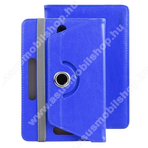 ASUS Memo Pad 7 ME572CENKAY UNIVERZÁLIS tablet PC notesz / mappa tok - SÖTÉTKÉK - oldalra nyíló, asztali tartó funkciós, , 360°-ban elforgatható, gumis záródás, 150-190mm és 82-120mm között állítható belső keret, 7