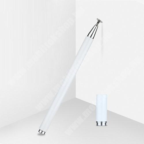 Bluboo S3 Érintőképernyő ceruza - 1db tartalék koronggal, mágneses kupak, kapacitív kijelzőhöz, KÉZÍRÁSRA, RAJZOLÁSRA IS ALKALMAS - FEHÉR