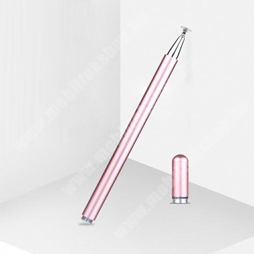 Blackphone Érintőképernyő ceruza - 1db tartalék koronggal, mágneses kupak, kapacitív kijelzőhöz, KÉZÍRÁSRA, RAJZOLÁSRA IS ALKALMAS - RÓZSASZÍN