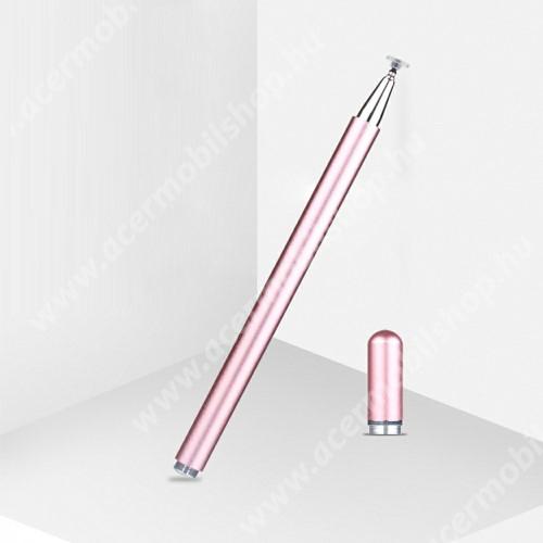 ACER Liquid Z3 Érintőképernyő ceruza - 1db tartalék koronggal, mágneses kupak, kapacitív kijelzőhöz, KÉZÍRÁSRA, RAJZOLÁSRA IS ALKALMAS - RÓZSASZÍN