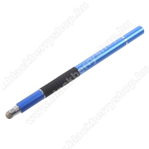BLACKBERRY 9530 StormÉrintőképernyő ceruza / golyós toll - kapacitív kijelzőhöz, KÉZÍRÁSRA, RAJZOLÁSRA ALKALMAS - SÖTÉTKÉK