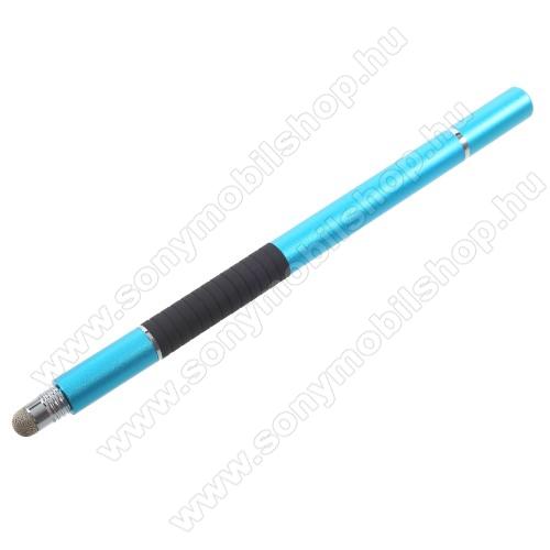 SONY Xperia Z2 (D6503)Érintőképernyő ceruza / golyós toll - kapacitív kijelzőhöz, KÉZÍRÁSRA, RAJZOLÁSRA ALKALMAS - VILÁGOSKÉK