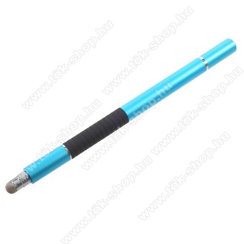 Érintőképernyő ceruza / golyós toll - kapacitív kijelzőhöz, KÉZÍRÁSRA, RAJZOLÁSRA ALKALMAS - VILÁGOSKÉK