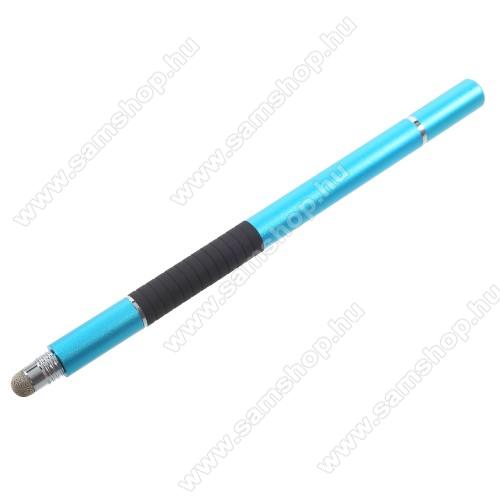 SAMSUNG Galaxy Grand 3 (SM-G7200) Érintőképernyő ceruza / golyós toll - kapacitív kijelzőhöz, KÉZÍRÁSRA, RAJZOLÁSRA ALKALMAS - VILÁGOSKÉK