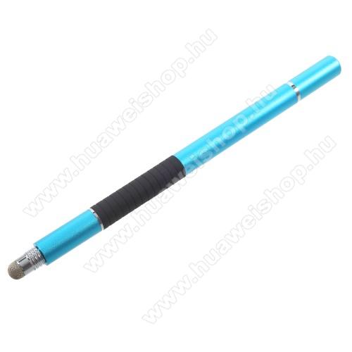 HUAWEI Honor Play 3Érintőképernyő ceruza / golyós toll - kapacitív kijelzőhöz, KÉZÍRÁSRA, RAJZOLÁSRA ALKALMAS - VILÁGOSKÉK