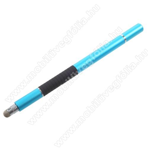 HUAWEI P Smart+ (2019)Érintőképernyő ceruza / golyós toll - kapacitív kijelzőhöz, KÉZÍRÁSRA, RAJZOLÁSRA ALKALMAS - VILÁGOSKÉK