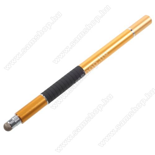SAMSUNG GT-N8000 Galaxy Note 10.1Érintőképernyő ceruza / golyós toll - kapacitív kijelzőhöz, KÉZÍRÁSRA, RAJZOLÁSRA ALKALMAS - ARANY