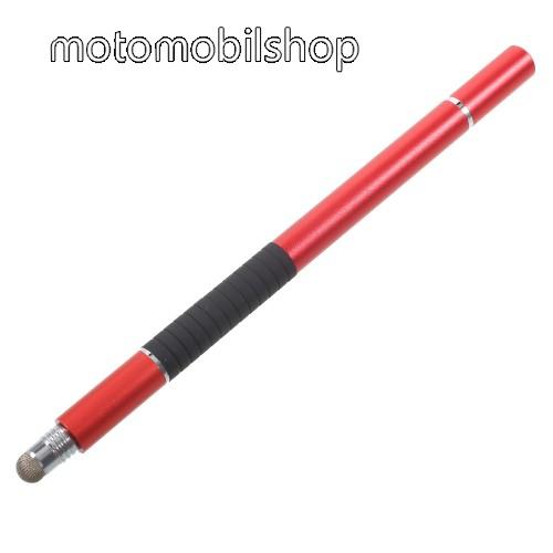 MOTOROLA Moto G XT1032 Érintőképernyő ceruza / golyós toll - kapacitív kijelzőhöz, KÉZÍRÁSRA, RAJZOLÁSRA ALKALMAS - PIROS